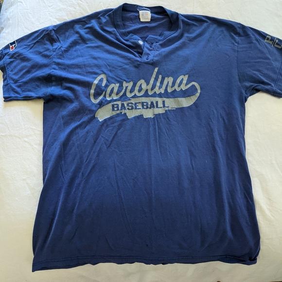 Vintage Blue Carolina Baseball T-Shirt